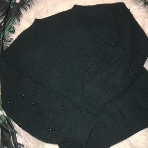 A. N. A. Sweater with bead detail